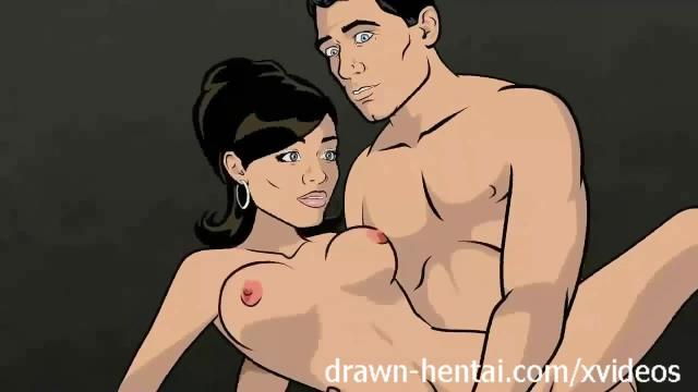 Archer hentai - prison sex with lana