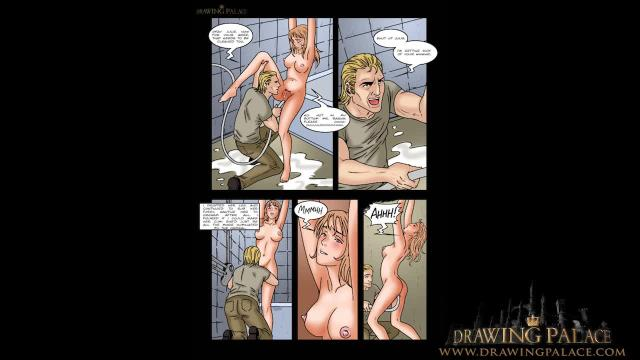 Ballerina bondage slave girl bdsm comic book and drawing